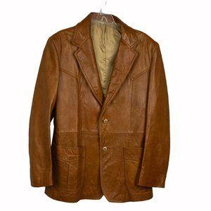 Saddlery Vintage Men Button Western Cut Blazer 42